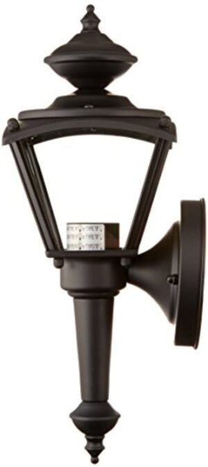 Westinghouse Lighting 6698300 One-Light Exterior Wall Lantern, Matte Black Finish on Steel with Clear Glass Panels