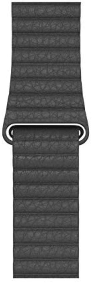 Apple Watch Leather Loop (44mm) - Black - Large
