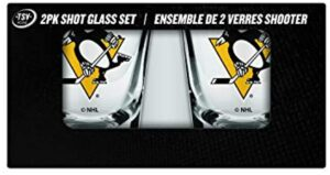 The Sports Vault 2 Pk Shot Glass Set Pittsburgh Penguins