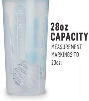 BlenderBottle Classic Loop Top Shaker Bottle, Clear Black, 28-Ounce