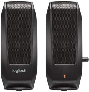 Logitech 980-000012 S120 2.0 Multimedia Speakers, Black