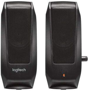 Logitech 980-000012 S120 2.0 Multimedia Speakers, Black