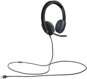 Logitech H540 Wired USB Headset, Black (981-000510)