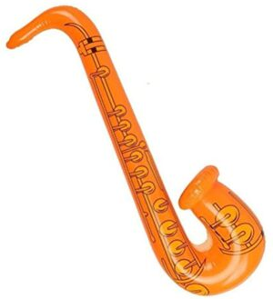 Toyvian Inflatable Musical Instruments Toy Set - Guitar, Boom Box, Keyboard Piano, Saxophone, Microphone, 5Pack Rock Star Party Supplies