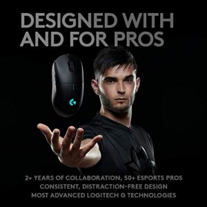 Logitech Pro Wireless Gaming Mouse, E-Sports Grade Performance (910-005270)