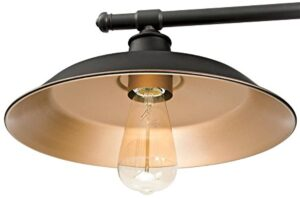 Westinghouse Lighting 6332500 Industrial Iron Hill Three-Light Indoor Island Pulley Pendant, Oil Rubbed Bronze Finish