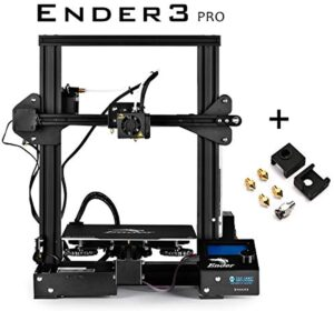 "SainSmart x Creality Ender-3 PRO 3D Printer with Upgraded C-Magnet Build Surface Plate Mat, UL Certified Power Supply, Extra 4 Nozzles, Build Volume 8.7"" x 8.7"" x 9.8"""