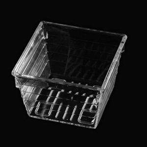 """Backerysupply Clear Plastic Drawer Organizer Trayfor Vanity Cabinet(3""""×3""""×2"""",Set of 14),Storage Tray for Makeup, Kitchen Utensils, Jewelries, and Gadgets"""