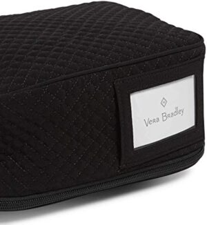 Vera Bradley Microfiber Bunch Lunch Bag, Classic Black