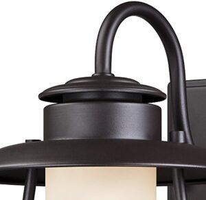 Westinghouse 6204200 Santa Fe 1 Light Outdoor Wall Lantern, Weathered Bronze