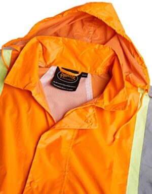 Pioneer V1080250-XL Heavy-Duty High Visibility Jacket and Pants Combo, Orange, XL