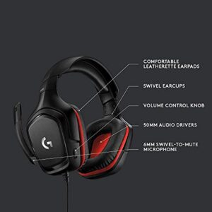 Logitech G332 Stereo Gaming Headset for PC, PS4, Xbox One, Nintendo Switch (981-000755)