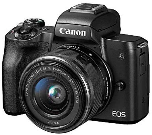 Canon EOS M50 Mirrorless Camera Kit with 15-45mm lens(Black) (742880775400)