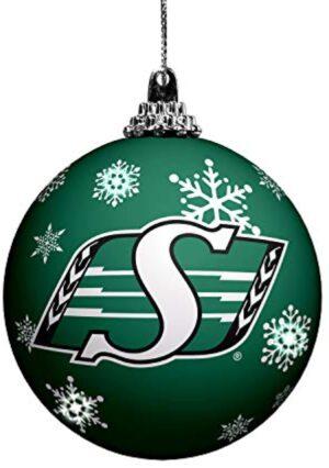 The Sports Vault LED Light UP Ball Ornament Saskatchewan ROUGHRIDERS, Team Colors