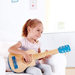 Hape 26 Inch Kids Guitar Toy Musical Instrument - Beginner Wooden Kids Guitar, Musical Toys w/ 4 Tunable Strings