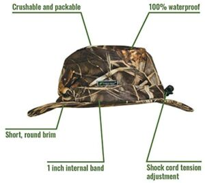 FROGG TOGGS Waterproof Breathable Bucket Hat, Realtree Max5, Adjustable
