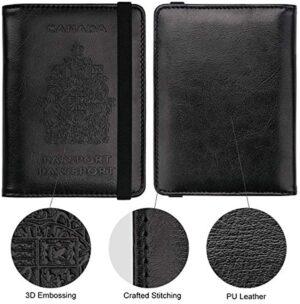 WALNEW RFID Blocking Passport Holder Wallet Cover Case