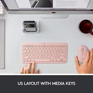 Logitech K380 Multi-Device Wireless Bluetooth Keyboard for Mac - Rose