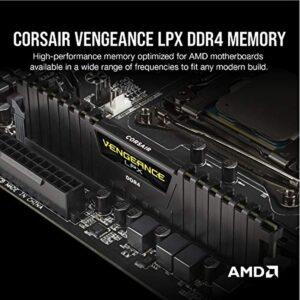 Corsair Vengeance LPX 16GB (2x8GB) DDR4 4000 (PC4-3200) C16 1.35V AMD Optimized Desktop Memory - Black