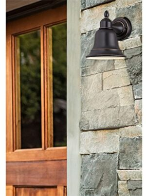 Westinghouse 6204300 Roosevelt 1 Light Outdoor Wall Lantern, Amber Bronze