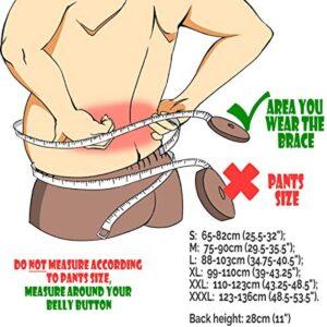 NeoTech Care Adjustable Double Pull Lumbar Brace/Lower Back Belt, Black, Size S