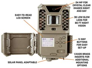 Bushnell 119932CB 24.0-Megapixel Core Prime Low Glow Trail Camera with Batteries, Brown