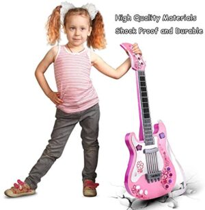Kids Guitar for Girls Boys Kids Toy Guitar Pink Guitar Musical Instruments Birthday Gift Party Favor for Kids