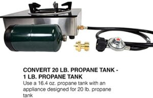 GasOne 50160.0 Propane Bottle Adapter, 16.4 oz, Universal