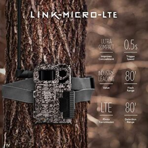 SPYPOINT Link-Micro-LTE Cellular Trail Camera 4 LED Infrared Flash Game Camera with 80-Foot Detection and Flash Range LTE-Capable Cellular Trail Camera 10MP 0.5-Second Trigger Speed Hunting Camera