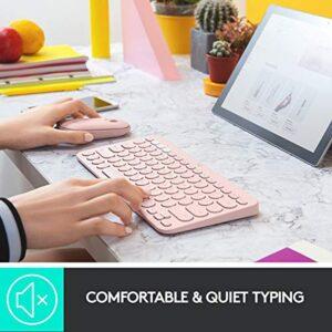 Logitech K380 Multi-Device Wireless Bluetooth Keyboard - Rose