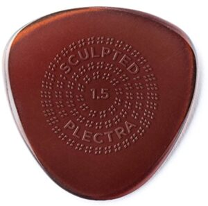 Jim Dunlop Dunlop Primetone Semi-Round Grip 1.5mm Sculpted Plectra Guitar Pick - 3 Pack (514P1.5)