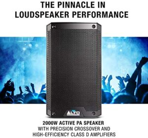 Alto Professional TS308 | 2000-W 8-Inch 2-Way Powered Loudspeaker with Contour Controls, Performance-Driven In/Outputs and Integrated 2-Channel Mixer