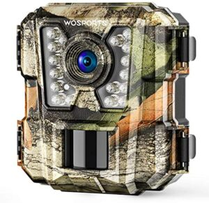 WOSPORTS Mini Trail Camera 1080P HD Wildlife Scouting Hunting Camera with IR Night Vision Waterproof Video Cam G100