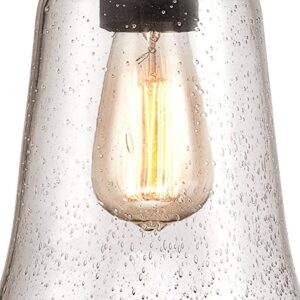 Westinghouse 6339900 Brynn One-Light Outdoor Pendant, Oil Rubbed Bronze Finish with Highlights and Clear Seeded Glass
