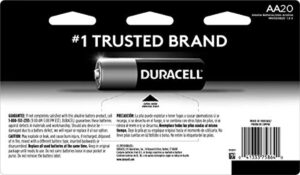 Duracell - CopperTop AA Alkaline Batteries - long lasting, all-purpose Double A battery for household and business -20 count