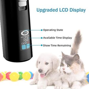 Dog Clippers Cat Shaver, Professional Hair Grooming Electric Clipper Detachable Blades Cordless Rechargeable, Pet Clipper for Thick Coats Long haired Dog Cat, Quiet Animal Clippers and Trimmer (Dark)