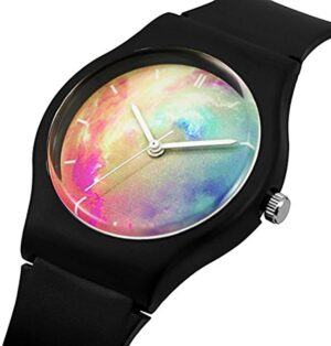 Kids Children Girls Boys Teen Rainbow Watch Stripe Time Teacher Watch Gift