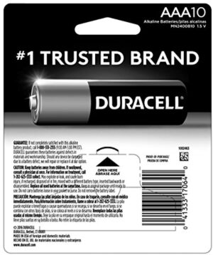 Duracell - coppertop AAA Alkaline Batteries - Long Lasting, All-Purpose Triple A Battery - 10 Count