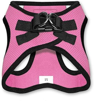 """Voyager Step-in Air Dog Harness - All Weather Mesh, Step in Vest Harness for Small and Medium Dogs by Best Pet Supplies - Pink Base, XXXS (Chest: 9.5 - 10.5"""" * Fit Cats) (207-PKB-XXXS)"""
