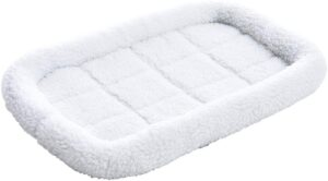 AmazonBasics Padded Pet Bolster Crate Bed Pad - 22 x 15 Inches