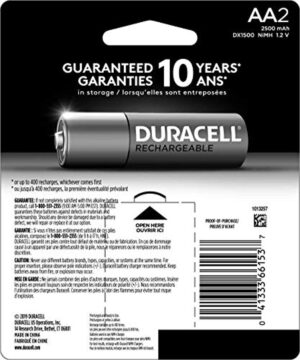 Duracell - Coppertop Aa Alkaline Batteries - Long Lasting, All-purpose Double A Battery - 2 Count