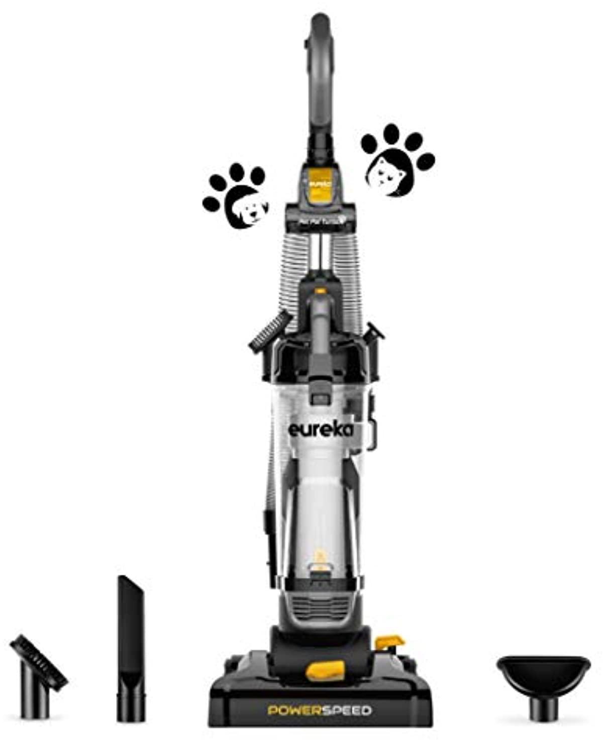 Bagless upright vacuum cleaner